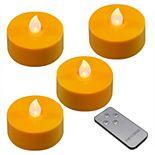 LumaBase Battery Operated Extra Large Tea Light Candle Set