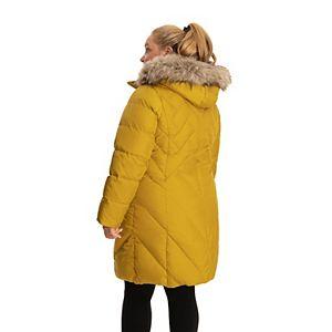 Plus Size TOWER by London Fog Faux-Fur Hood Down Puffer Coat