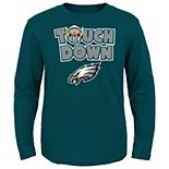 Toddler Philadelphia Eagles Touch Down Long Sleeve Tee