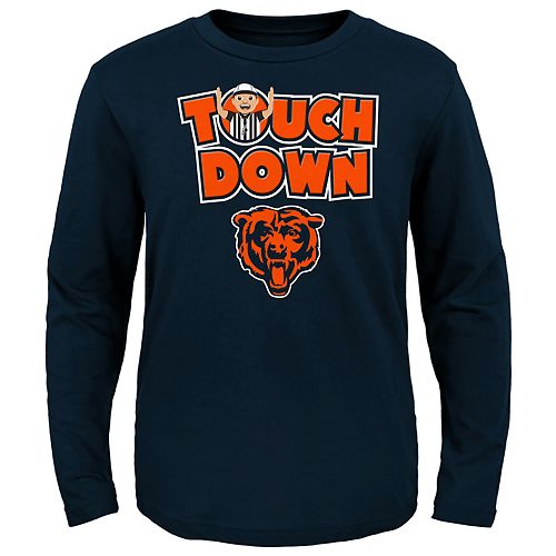 Toddler Chicago Bears Touch Down Long Sleeve Tee