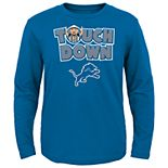 Boys 8-20 Detroit Lions Touch Down Long Sleeve Tee