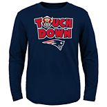 Toddler New England Patriots Touch Down Long Sleeve Tee