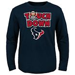 Toddler Houston Texans Touch Down Long Sleeve Tee