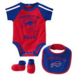 Baby Boy NFL Buffalo Bills Tackle Creeper, Bib, & Bootie Set