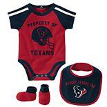 Baby Boy NFL Houston Texans Tackle Creeper, Bib, & Bootie Set