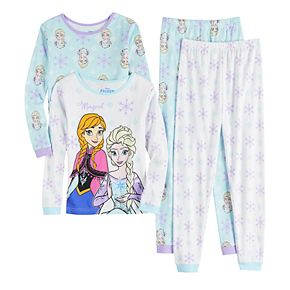 Disney's Frozen Anna & Elsa Girls 4-8 Tops & Bottoms Pajama Set