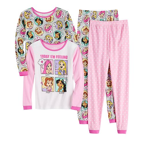 Disney's Princess Girls 4-10 Tops & Bottoms Pajama Set