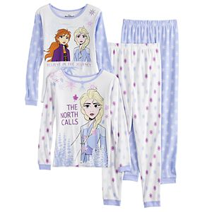 Disney's Frozen 2 Anna & Elsa Girls 4-8 Top & Bottom Pajama Set