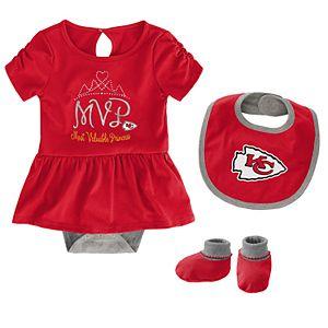 36e2e16c Baby Girls NFL Kansas City Chiefs Champ 3-pack Bodysuit
