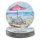 Certified International Ocean View 6-pc. Dinner Plate Set