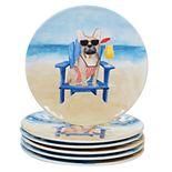 Certified International Hot Dogs 6-pc. Salad Plate Set
