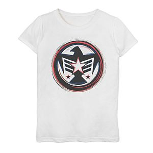 Girls' 7-16 Captain Marvel Falcon Graphic Tee