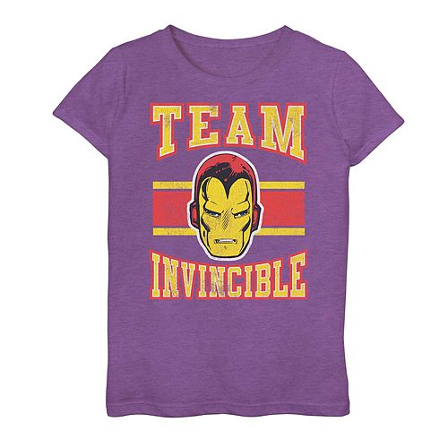 Girls 7-16 Marvel Iron Man Team Invincible Tee