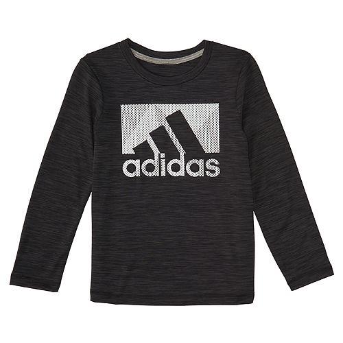 0979743120 Boys 4-7 Long-Sleeved Moisture-Wicking adidas Logo Tee