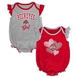 Baby Girl Ohio State Buckeyes Celebration Bodysuit Set