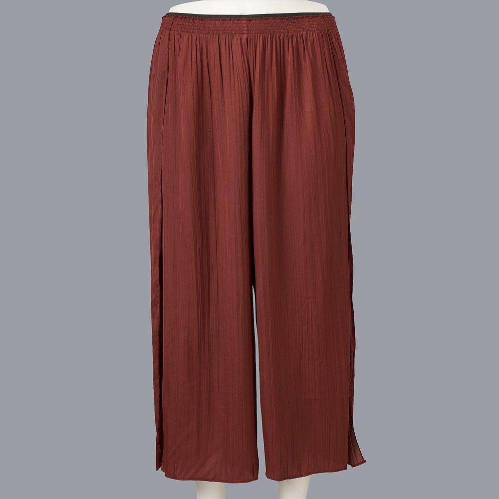 Plus Size Simply Vera Vera Wang Soft Crinkle Pant