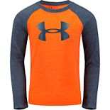 Boys 4-7 Under Armour Long-Sleeved Moisture-Wicking Raglan Tee