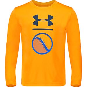 Boys 4-7 Under Armour Long-Sleeved Baseball Logo Tee