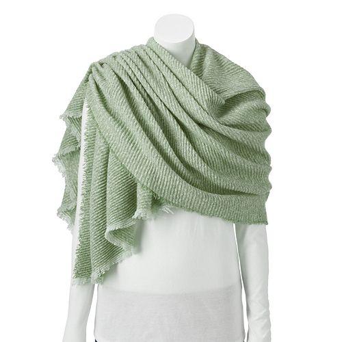 Women's LC Lauren Conrad Woven Blanket Wrap with Petite Pleat