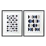 New View Gifts & Accessories Framed Metallic Abstract Prints (2 pk)