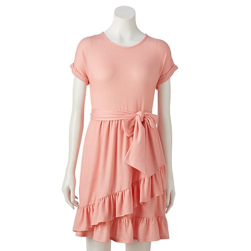 LC Lauren Conrad Ruffle Tie Front Dress