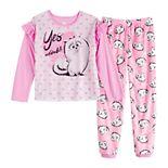 Girls 4-10 Disney's Secret Life of Pets Long Sleeved Top & Plush Bottoms Pajama Set
