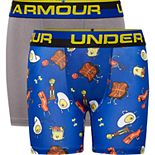 Boys 8-20 Under Armour Print 2-Pack Boxer Briefs