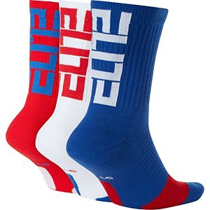 Men's Nike 3-pack Elite Dri-FIT Basketball Crew Socks