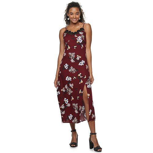 Juniors' Love, Fire Cami Midi Slip Dress
