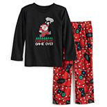 Toddler Jammies For Your Families Christmas Game Over Top & Bottoms Pajama Set
