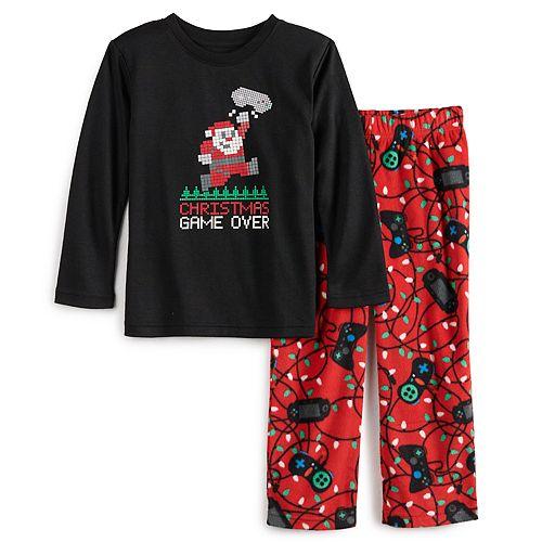 Toddler Jammies For Your Families Christmas Game Over Top & Bottoms Pajama Set