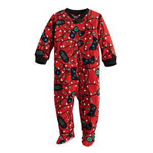 Baby Jammies For Your Families Christmas Game Over Footed Pajamas