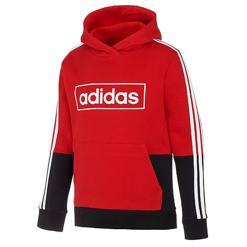 Boys 4-7 adidas Logo Colorblock Hooded Pullover