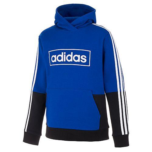 Boys 4-7 adidas Logo Colorblock Hooded Pullover