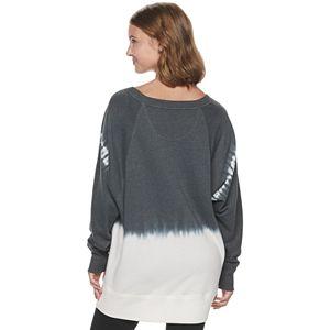 Juniors' SO® Oversized Crew Tunic Sweatshirt