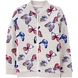 Girls 4-12 Carter's Butterfly Zip-Up Fleece Jacket
