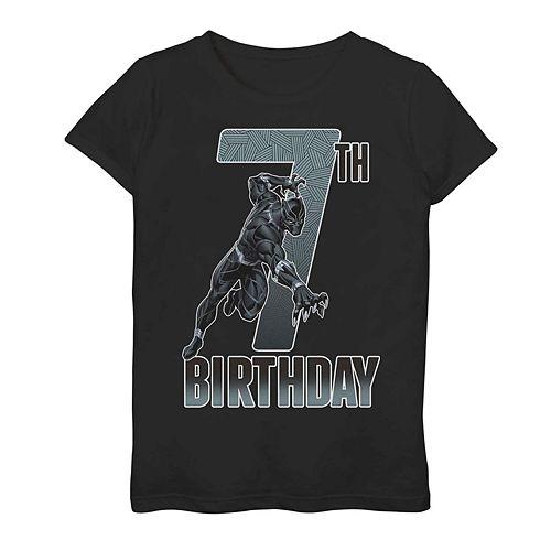 Girls' Marvel Black Panther 7th Birthday Tee
