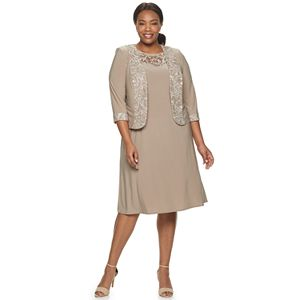 Plus Size Le Bos Embroidered Tiered Dress