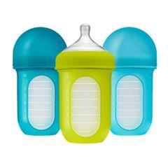 Boon NURSH Reusable Silicone Pouch Bottle x3 8 oz 140 ml
