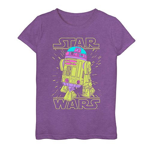 Girls 7-16 Star Wars R2-D2 Abstract Graphic Tee