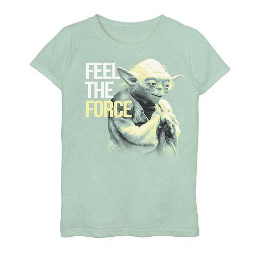 "Girls 7-16 Star Wars Yoda ""Feel The Force"" Vintage Graphic Tee"