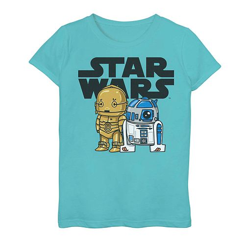 Girls 7-16 Star Wars C-3PO R2-D2 Droid Graphic Tee