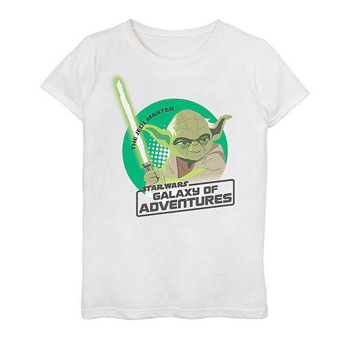 Girls 7-16 Star Wars Galaxy Of Adventures Yoda Graphic Tee