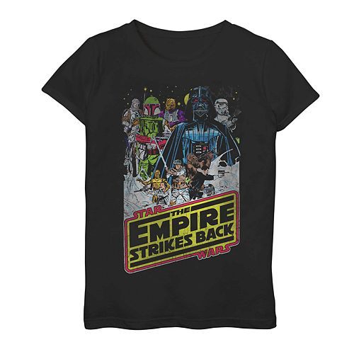 Girls 7-16 Star Wars The Empire Strikes Back Hoth Vintage Poster Graphic Tee