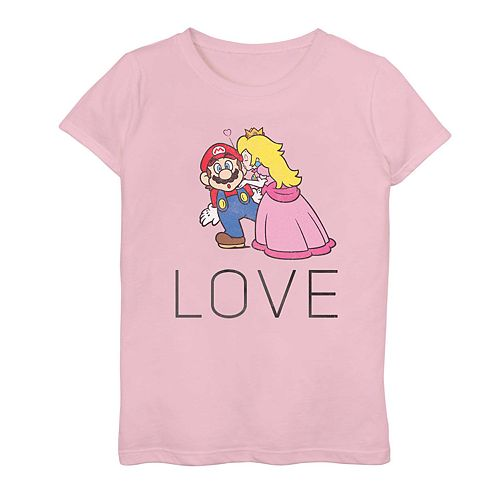 "Girls 7-16 Nintendo Super Mario ""Love"" Graphic Tee"