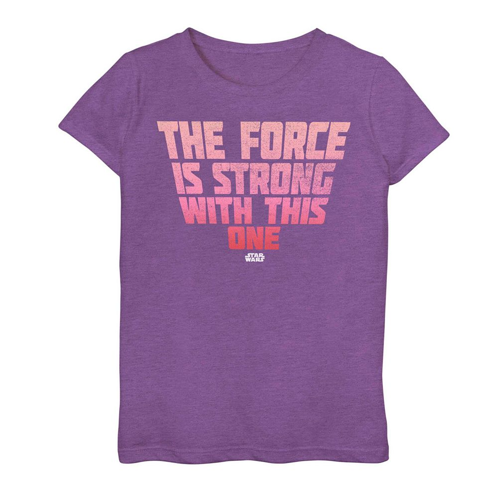"Girls 7-16 Star Wars ""The Force"" Graphic Tee"