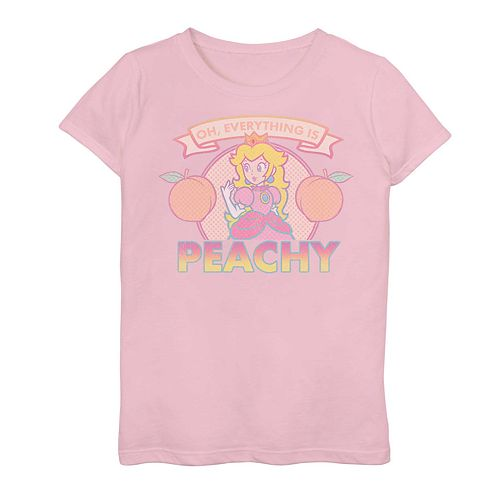 Girls 7-16 Nintendo Peach Graphic Tee