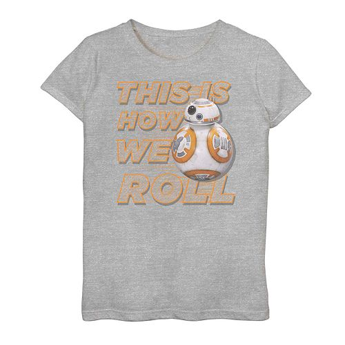 Girls' 7-16 Star Wars BB-8 This Is How We Roll Graphic Tee