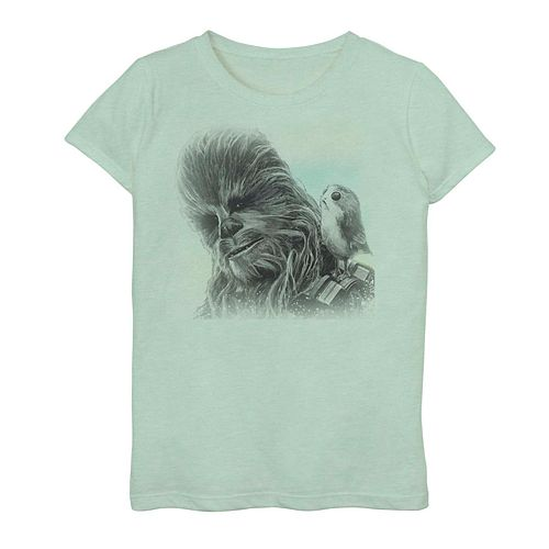 Girls' 7-16 Star Wars Chewy Porg Graphic Tee