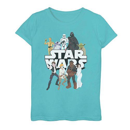 Girls' 7-16 Star Wars Galaxy Group Graphic Tee